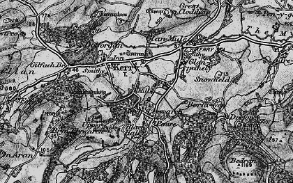 Old map of Brynllywarch in 1899