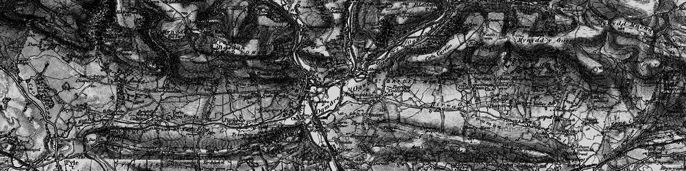 Old map of Brynmenyn in 1897