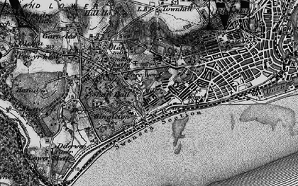 Old map of Brynmill in 1897