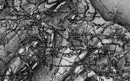 Old map of Brynrefail in 1899