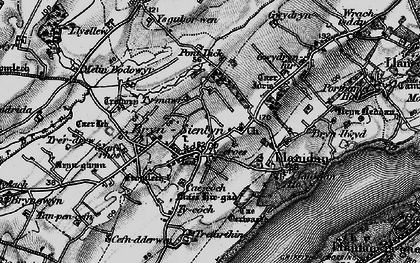 Old map of Ysgubor Wen in 1899