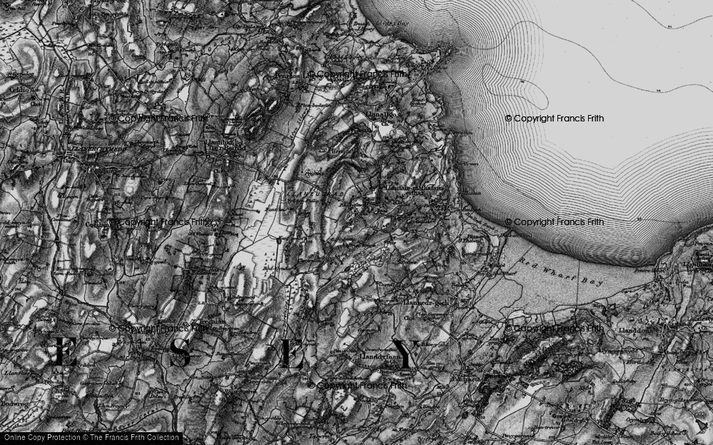 Old Map of Brynteg, 1899 in 1899