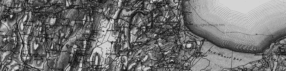 Old map of Brynteg in 1899