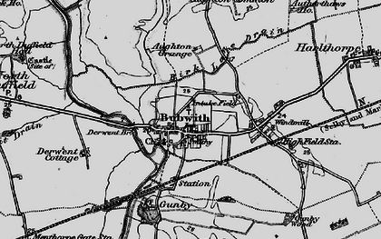 Old map of Aughton Grange in 1898