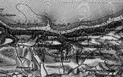 Old map of Buck's Mills in 1895