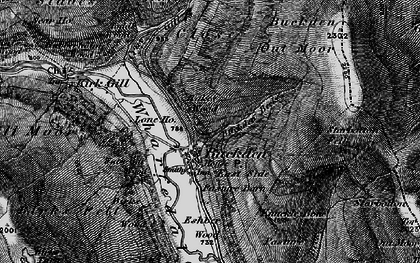 Old map of Buckden in 1897