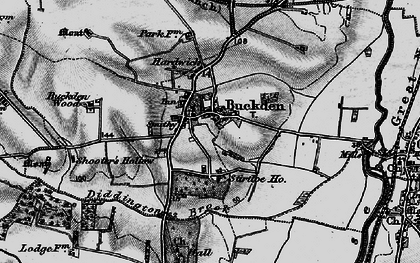 Old map of Buckden in 1898