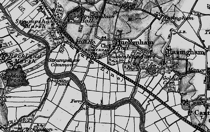Old map of Buckenham in 1898