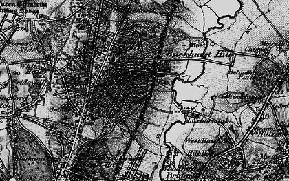 Old map of Buckhurst Hill in 1896