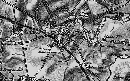 Old map of Buckingham in 1896
