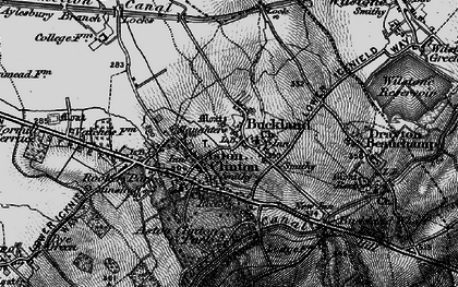 Old map of Buckland in 1895