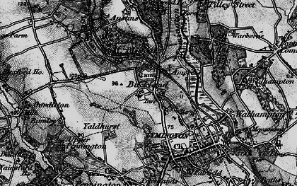 Old map of Yaldhurst in 1895