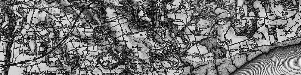 Old map of Yaldhurst in 1895