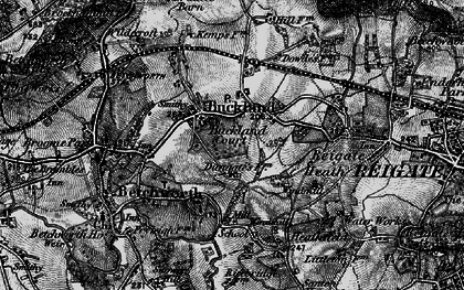 Old map of Buckland in 1896