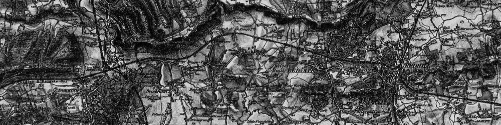 Old map of Wonham Manor in 1896