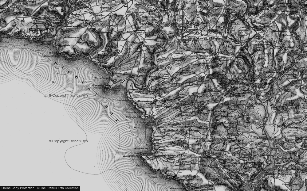 Old Map of Historic Map covering Aunemouth in 1897