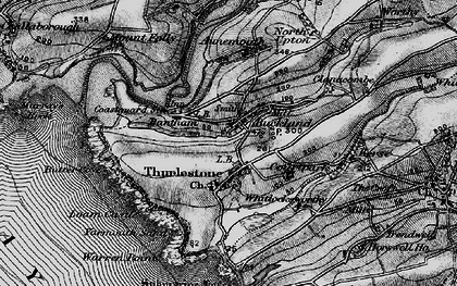 Old map of Aunemouth in 1897