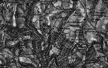 Old map of Buckland in the Moor in 1898