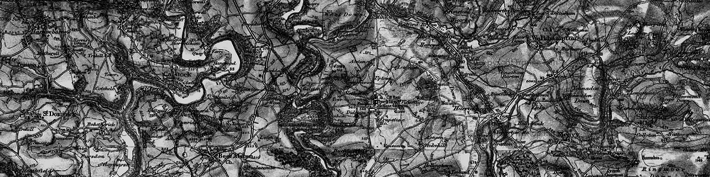 Old map of Alston in 1896