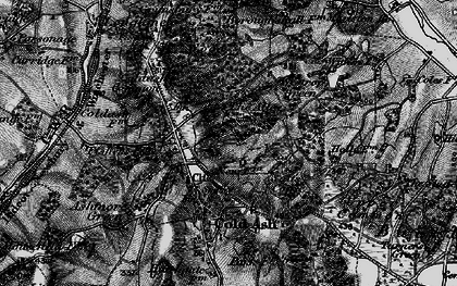 Old map of Bucklebury Alley in 1895