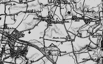 Old map of Levington Heath in 1896