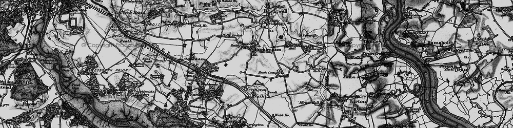 Old map of Bucklesham in 1896