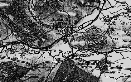 Old map of Lingen Br in 1899