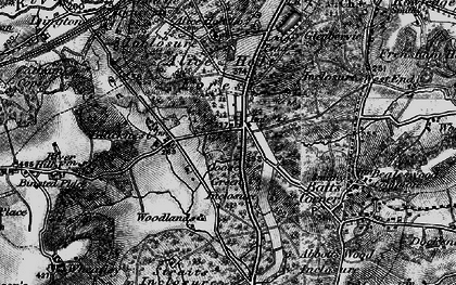 Old map of Alice Holt Forest in 1895