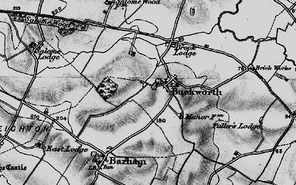 Old map of Buckworth in 1898