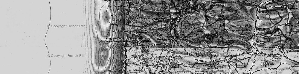 Old map of Bude in 1896