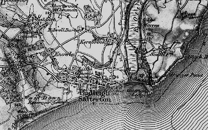 Old map of Budleigh Salterton in 1898