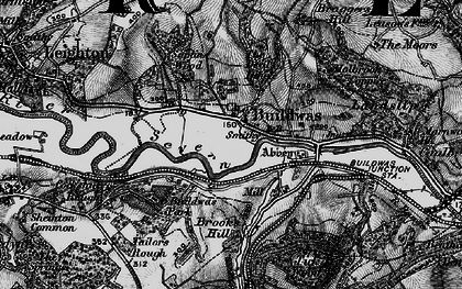 Old map of Buildwas in 1899