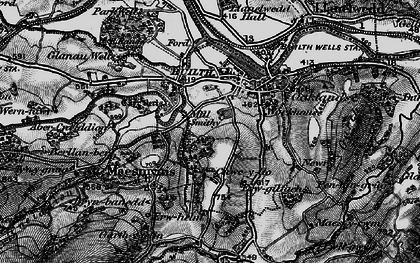 Old map of Builth Wells in 1898