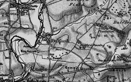 Old map of Bulford in 1898