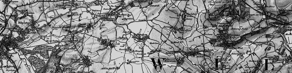 Old map of White Horse Trail in 1898