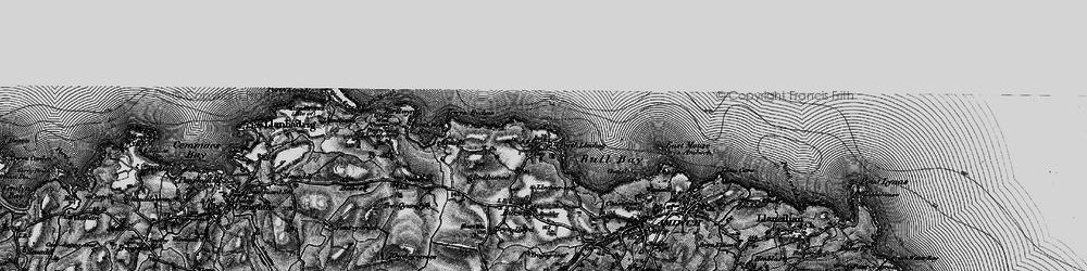 Old map of Bull Bay in 1899
