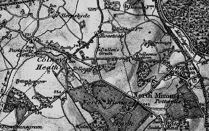 Old map of Bullen's Green in 1896
