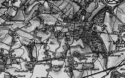 Old map of Woodgreen in 1896