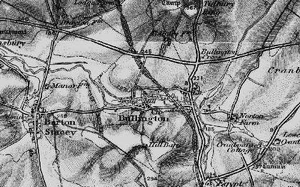 Old map of Tidbury Ring in 1895