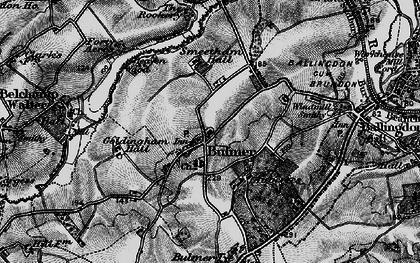 Old map of Bulmer in 1895