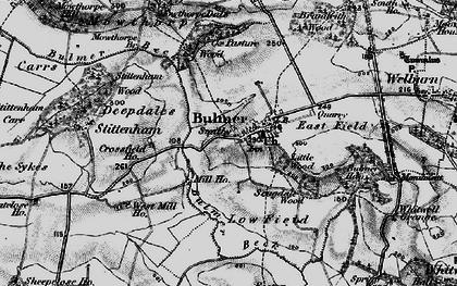 Old map of Bulmer in 1898