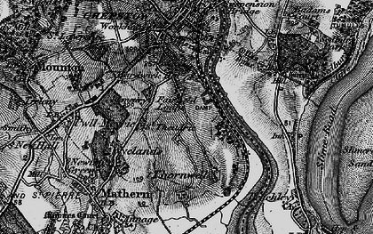 Old map of River Wye in 1897