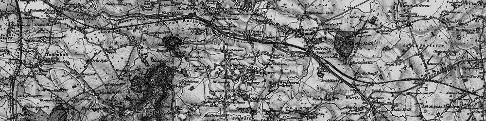 Old map of Bunbury in 1897