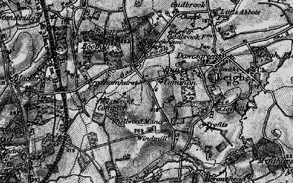 Old map of Bunce Common in 1896