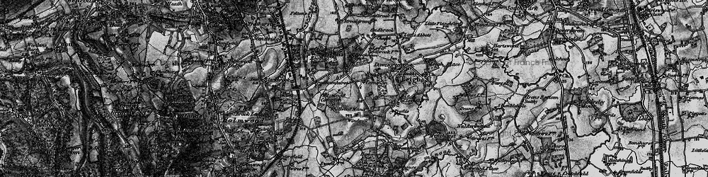 Old map of Westwood Common in 1896