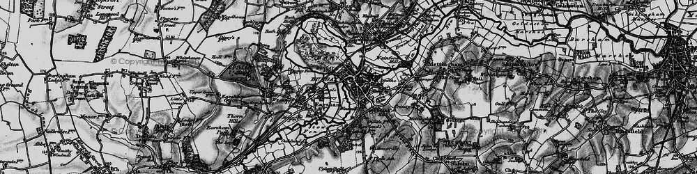 Old map of Bungay in 1898