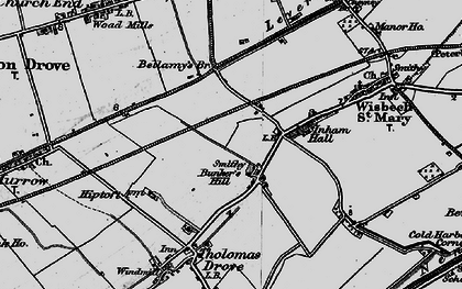 Old map of Bunker's Hill in 1898