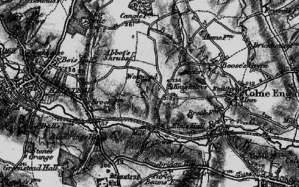 Old map of Abbot's Shrub in 1895