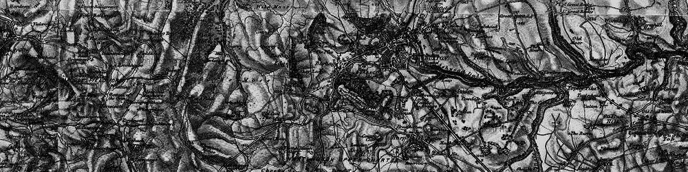 Old map of Wild Moor in 1896