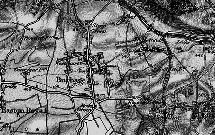Old map of Burbage in 1898